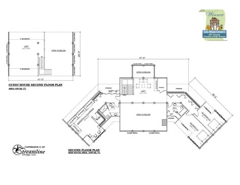 house with floor plan house plans with guest house