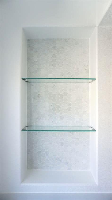 glass tile bathroom wall modern master bathroom update reveal
