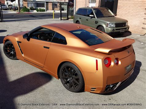 matte orange 2013 nissian gt r wrapped in frozen orange aka matte