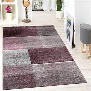 Teppich Schurwolle Grau : designer teppich hochwertig kariert konturenschnitt sprenkeln in lila beige grau alle teppiche ~ Indierocktalk.com Haus und Dekorationen