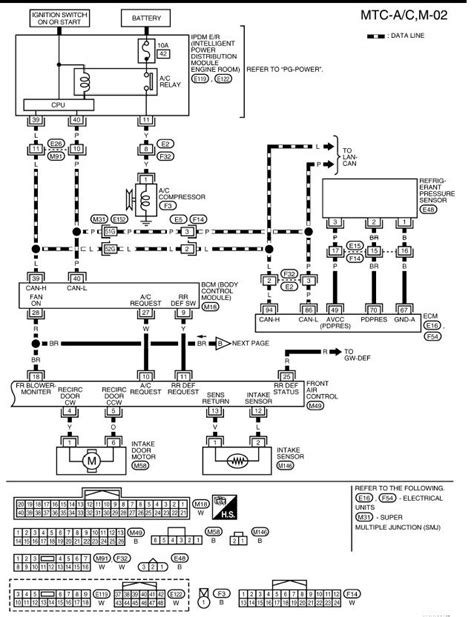 Nissan Xterra 2001 Radio Wiring Diagram by 2005 Nissan Xterra A C Inop A C Light Illuminated On