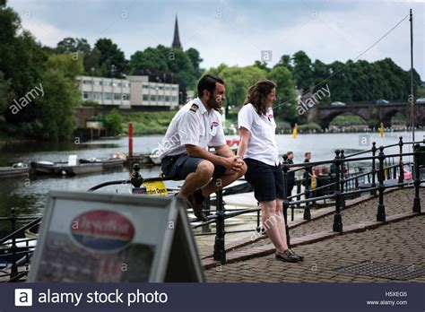 River Dee Boat Trips by River Dee Cruise Boat Chester Stock Photos River Dee