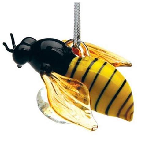 glassdelights honey bee glass christmas tree ornament