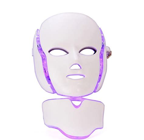 led light face mask led light therapy mask with neck mask piece derma roller