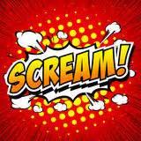 Cartoon Comic Book Scream Stock Vector Illustration Of