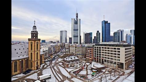 frankfurt germany winter city sights sounds youtube