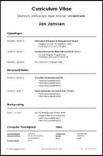 resume template for microsoft word starter voorbeeld cv voor starters en studenten dit cv is gratis te downloaden op www
