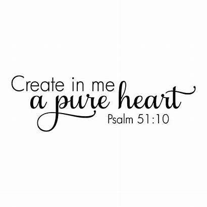 Heart Pure Quotes Wall Bible Scripture Create