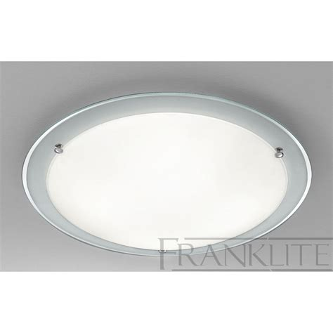 cf5665el flush ceiling light chrome glass
