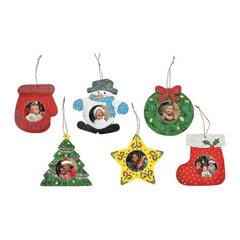 christmas ornaments frames diy unfinished wood picture frame ornaments