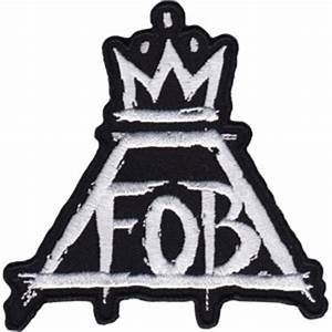 Fall Out Boy Iron-On Patch Crown FOB Logo – Rock Band Patches