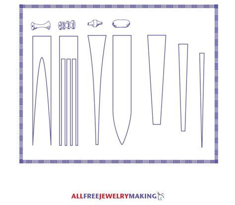 paper bead template paper bead pattern printable allfreejewelrymaking