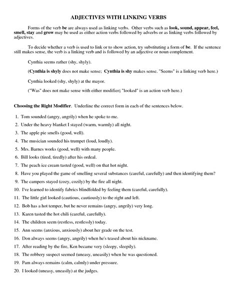 18 best images of helping verbs worksheets 5th grade