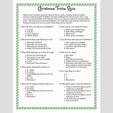 1000+ Ideas About Christmas Trivia Questions On Pinterest