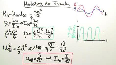 effektivwert von wechselstrom und wechselspannung physik