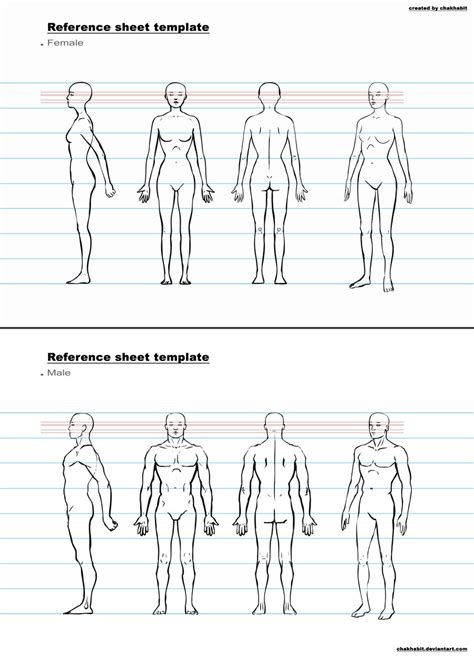 Character Template Ref Sheet Template A By Chakhabit On Deviantart