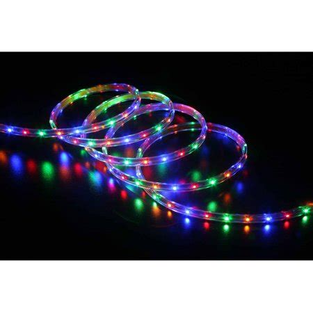 multi color led rope christmas lights time 19 6 led multi colored rope light 240 count walmart