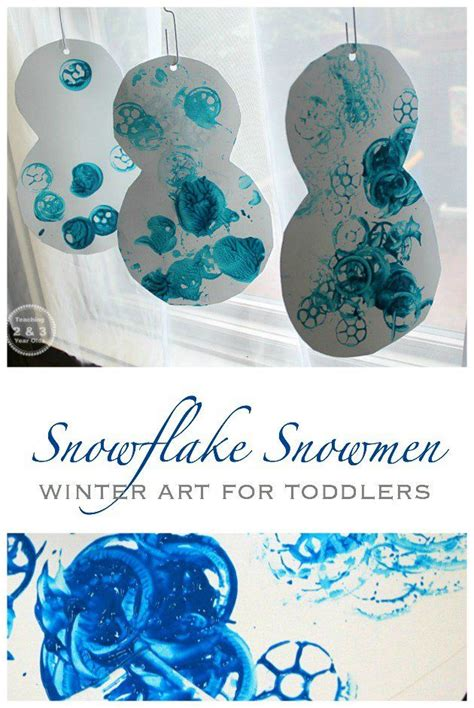 easy winter snowman art  toddlers toddler art winter