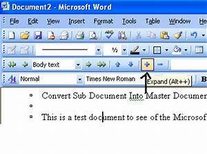 Convert subdocument into master document microsoft for Microsoft subdocuments