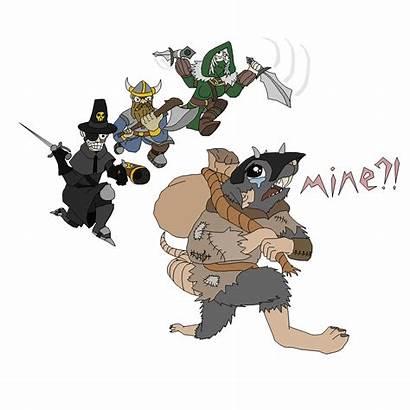 Warhammer Vermintide Sack Fanart Accompanied Rats Killing