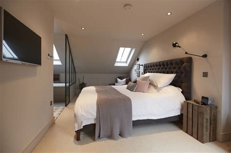 loft bedroom ideas balham loft conversion transitional bedroom london 12149 | transitional bedroom