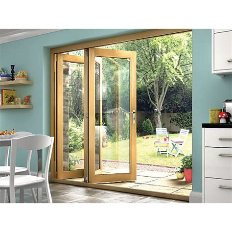 wickes isaac oak veneer folding patio doorset 6ft wide