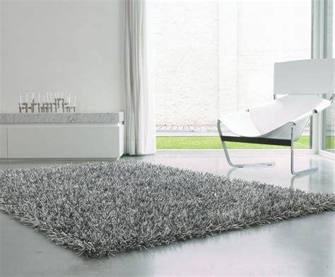 tapis shaggy gris argente photo  sublime tapis