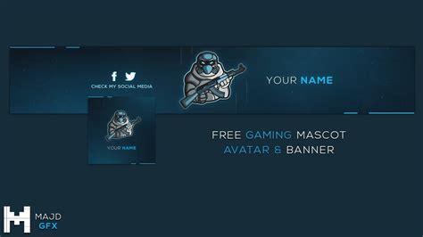 Free Gaming Mascot Logo Avatar & Banner Template