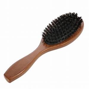 Natural Boar Bristle Hairbrush Massage Comb Anti static ...  Brush
