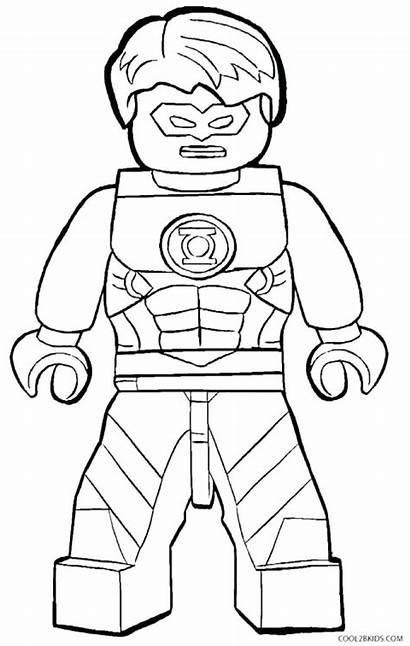 Coloring Lego Lantern Pages Printable Superhero Flash