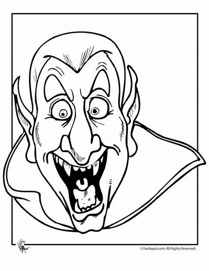 Coloring Pages Monster Scary Clipart Halloween Clip