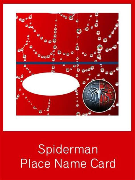 printable spider man party circles  place