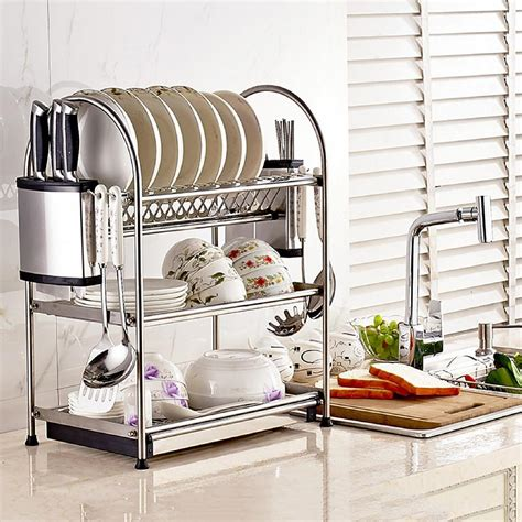 kitchen rack designs shoppy dontell stainless steel utensil 3 tier kitchen rack 2473