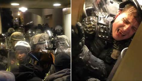 washington riots disturbing video shows police officer