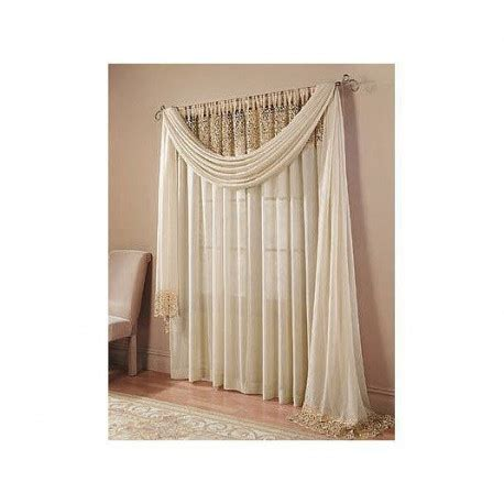 Bali Crushed Voile and Macrame Tailored Panel   Curtain