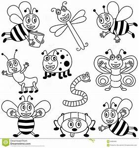 Coloring Insects for Kids stock vector. Image of animals ...