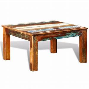 vidaxlcouk reclaimed wood coffee table square antique With reclaimed pine wood coffee table