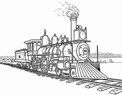 Coloring Train Revolution Steam Industrial Sheets Pages
