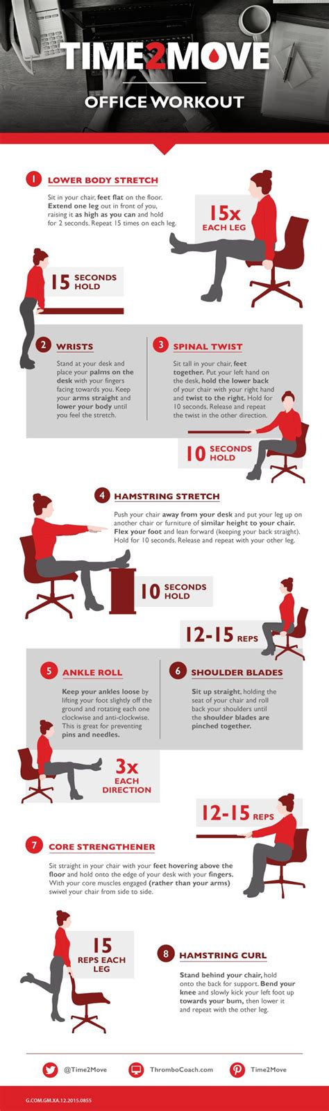 Office Desk Exercises by 25 Best Ideas About Desk Exercises On Office