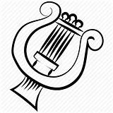 Drawing Lyre Harp Getdrawings Classical Instrument sketch template