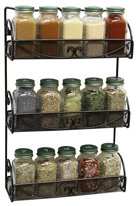 In Wall Spice Rack by Decobros 3 Tier Wall Mounted Spice Rack For 14 97
