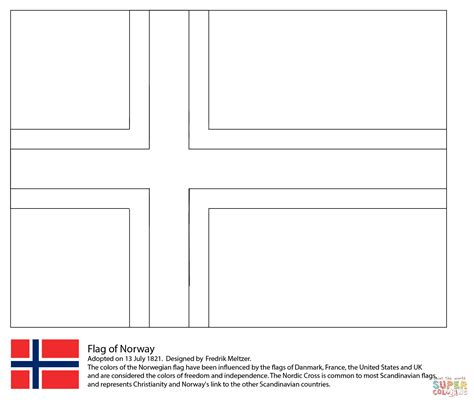Flag Of Norway Coloring Page Free Printable Coloring Pages