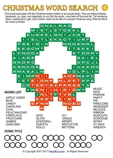unique christmas word search puzzles  pencil fun