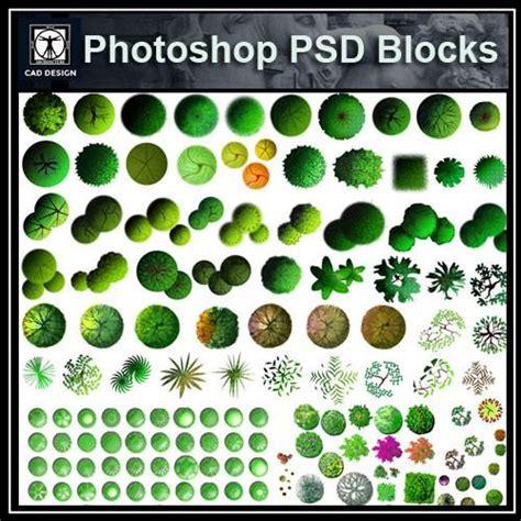 Photoshop PSD Landscape Tree Blocks 5 ? CAD Design   Free