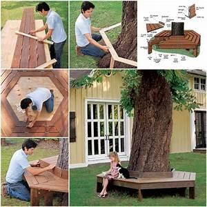 Fabriquer Un Banc D Interieur : comment fabriquer un banc autour d 39 un arbre jardin fabriquer un banc arbre banc et banc jardin ~ Melissatoandfro.com Idées de Décoration