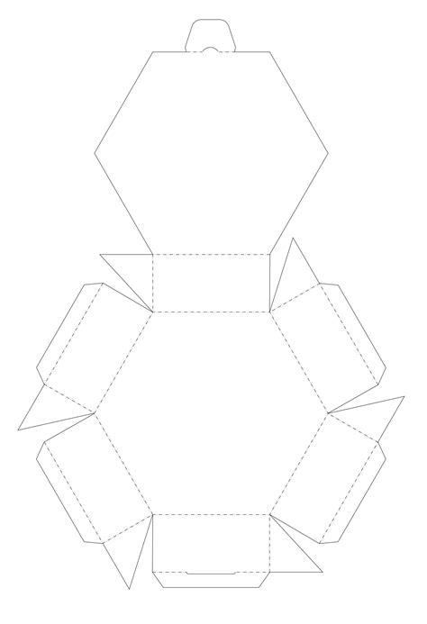 blank  sided printable box template aka hexagon