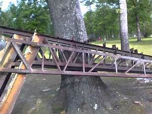 Shop build part 2 trusses youtube for 40 ft metal trusses