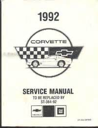 car maintenance manuals 1992 chevrolet corvette engine control 1992 chevrolet corvette preliminary repair shop manual original