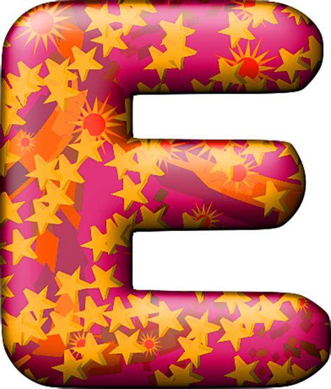presentation alphabets balloon warm letter e