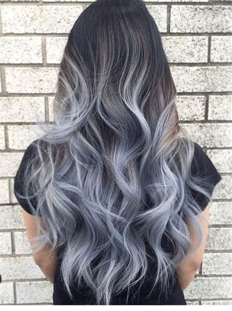 Grau Lila Haare Exclusive Black And Grayhair Ombre Hairs Ombrehair Haircolor Haircolortrends
